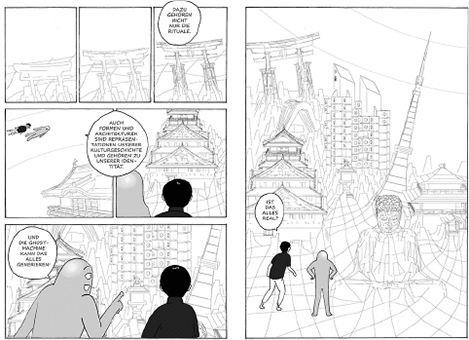 "Abb.: Carolin Lahode, ""Der Utopist – eine architektonische Graphic Novel"""