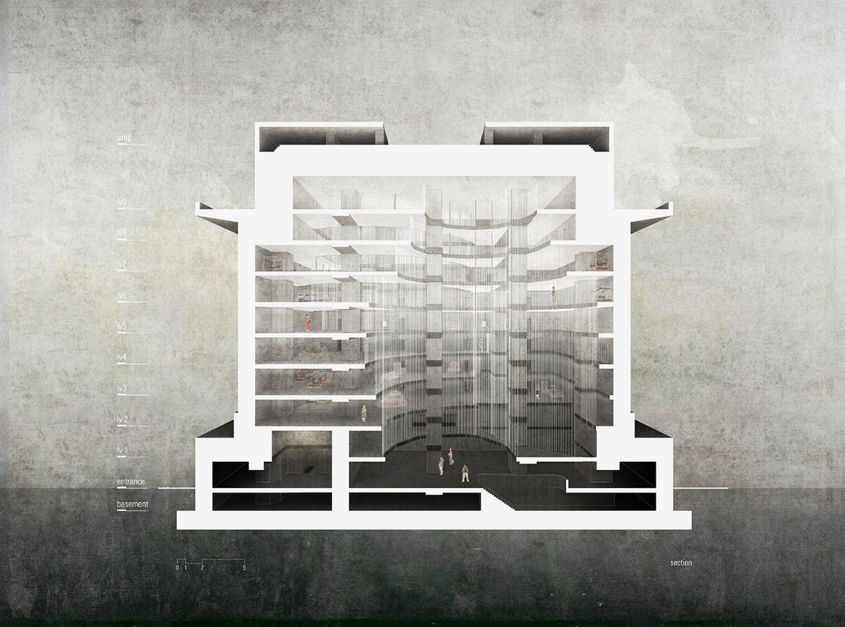 "Abb.: Arthur Neznanow, ""War Memorial & Art Museum. Reuse concept for a World War 2 Flak-Tower in Vienna"""