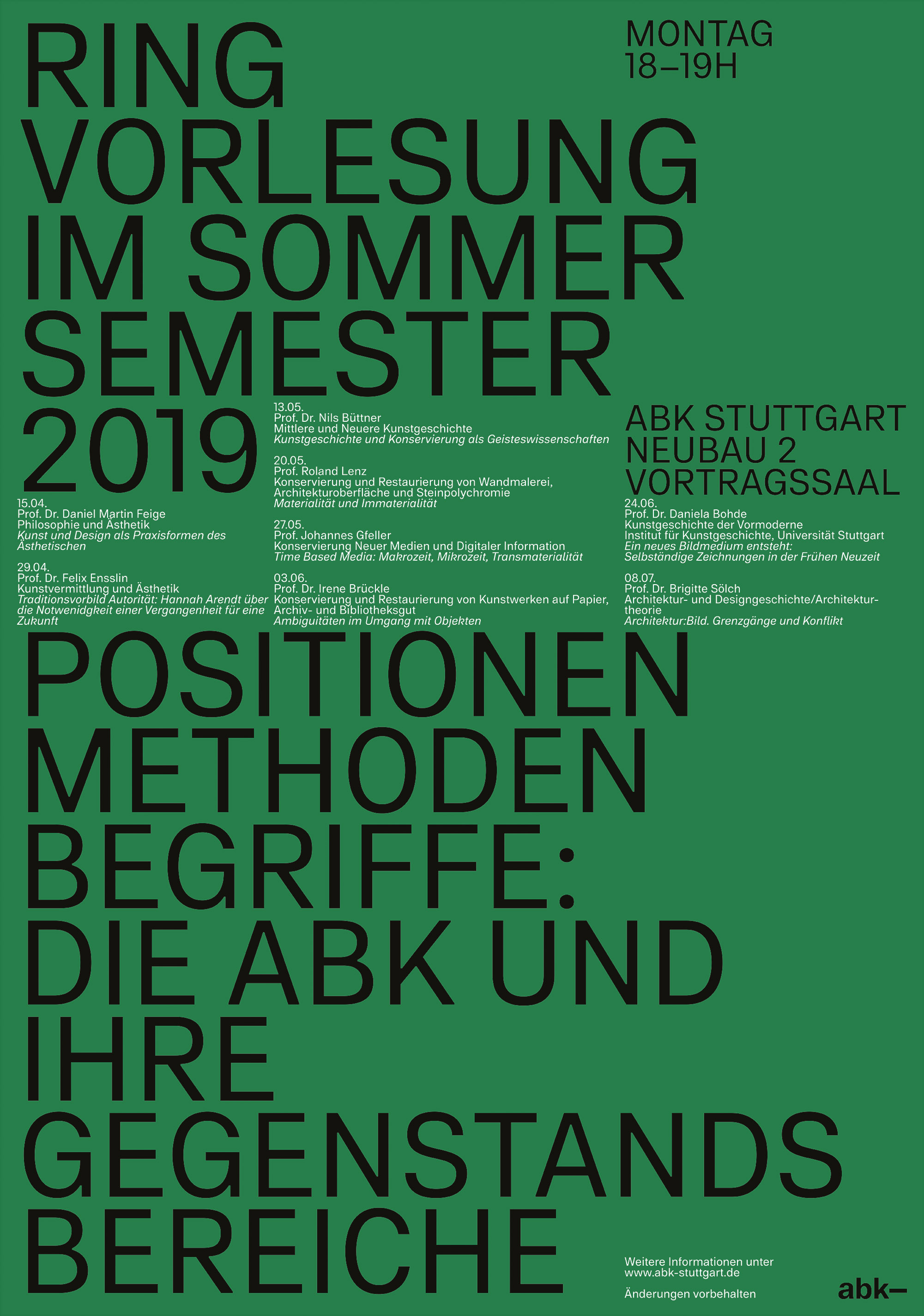 Vorlesungsverzeichnis Uni Stuttgart